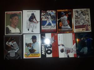 Baseball card collection total 10 cards multiple brands and players for Sale in Lynn, MA