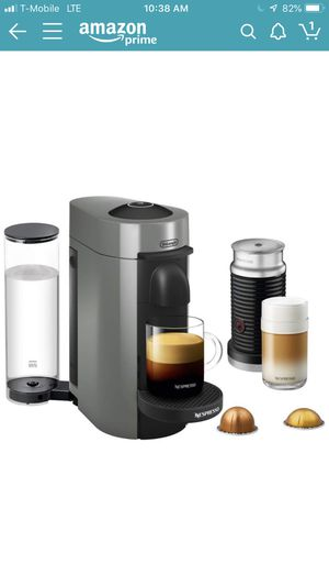 Nespresso VertuoPlus Coffee and Espresso Maker Bundle with Aeroccino Milk Frother by De'Longhi for Sale in Orlando, FL
