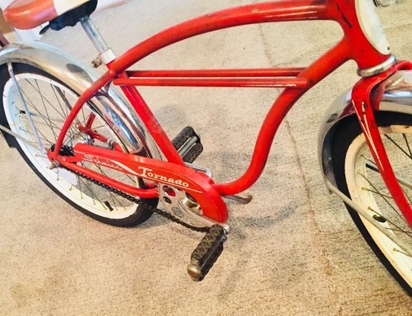 3147942eafe RARE 1959 SCHWINN 20 INCH DOUBLE STRAIGHT TWINN BAR BOYS TORNADO 🌪 BIKE  BICYCLE BEACH CRUISER PHANTOM VINTAGE OLD SCHOOL