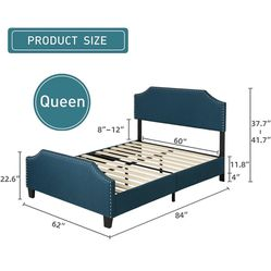 Queen Bed frame and Matresss Thumbnail
