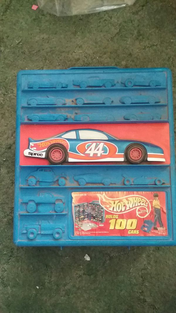 Vintage + Hot Wheel Car Carrying Case (Holds 100 cars) + 20 Matchbox ...