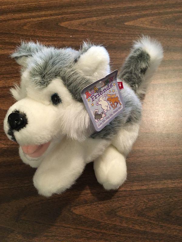 Alaska Stuffed Husky Malamute Souvenir Plush Animal Arctic Circle