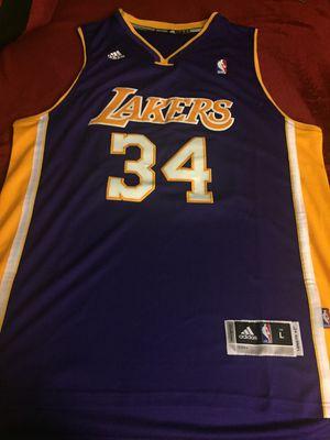 d1755cb7db05 Shaq Lakers Jersey size L new and Stitched for Sale in Hampton