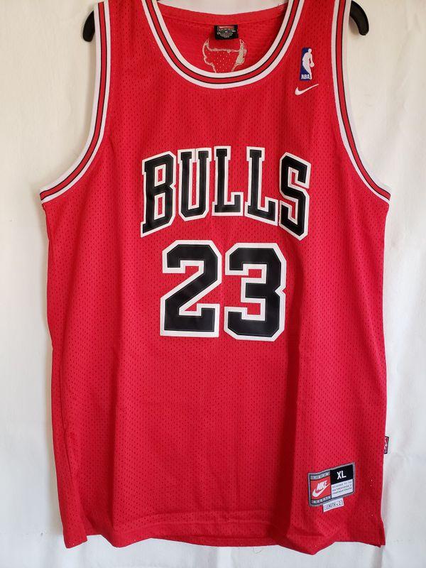 4eec53210a29 NBA Chicago red jersey Michael Jordan size XL brand new. San Bernardino ...