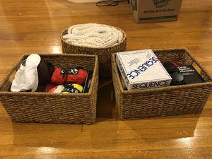 Crate & Barrel Wicker Baskets for Sale in Arlington, VA