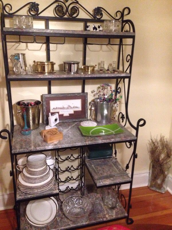 Wrought Iron Bakers Rack With Marble Shelves From Turkey For In Tacoma Wa Offerup