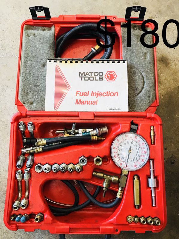 Matco Complete Fuel Pressure Tester Kit for Sale in Joliet, IL - OfferUp