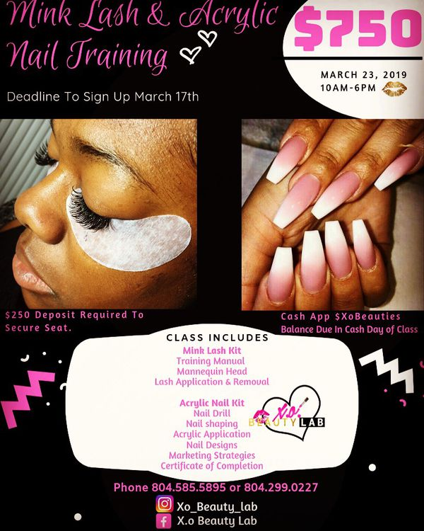 Mink Lash & Acrylic Nail Training for Sale in North Chesterfield, VA ...