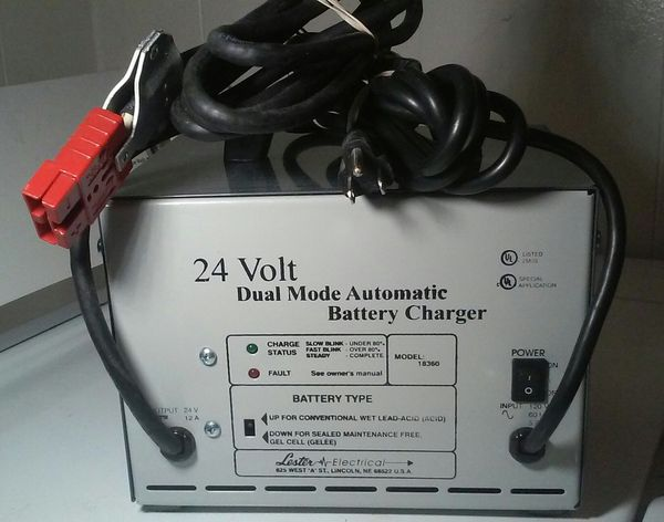 lester electrical 24v dual mode automatic battery charger