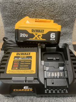 Brand NEW - Dewalt 6.0 AH Battery And 6 Amp Charger - Free Delivery 🚛 Thumbnail