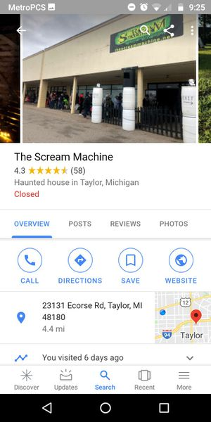 The Scream Machine haunted house for Sale in Taylor, MI