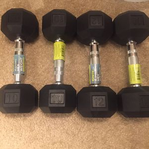 Brand New Ignite SPRI 10 and 12 Dumbbells for Sale in Gaithersburg, MD