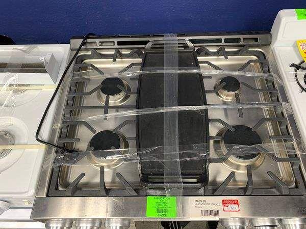 Brand New LG Stainless Steel 4 Burner Gas Stove E7H