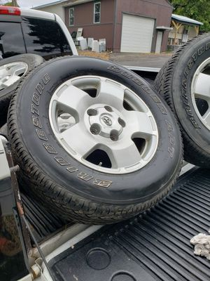 4 Toyota 20 inch rims and bridgestone LT 275/65R 18 tires with 3/4 life left! for Sale in Pittsburgh, PA