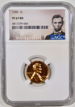 Photo 1959 Lincoln Cent Proof NGC PF-67 RED