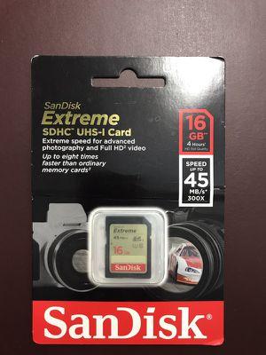 Sandisk SDHC UHS-l Card HC1 16g for Sale in Philadelphia, PA