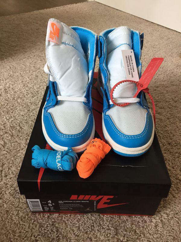 """new style e40c2 8e849 Jordan Retro 1 """"UNC"""" x Off-White size 5.5 WMNS for Sale in Fairfax, VA -  OfferUp"""