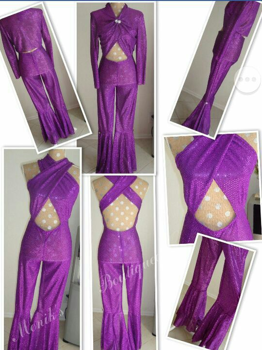 Selena Quintanilla Costume Purple Criss Cross Jumpsuit For Sale In