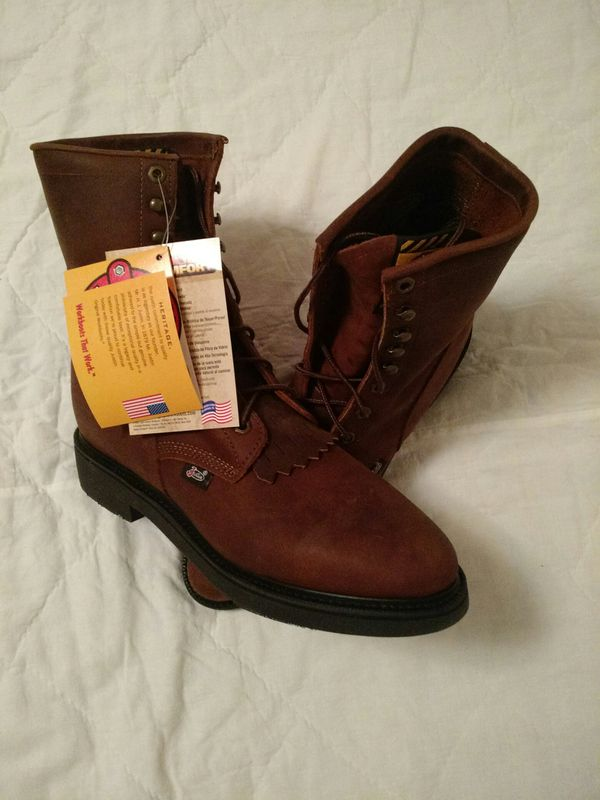 6111b3244e9 Justin 11B new with tags and box work boots for Sale in Bartlesville, OK -  OfferUp