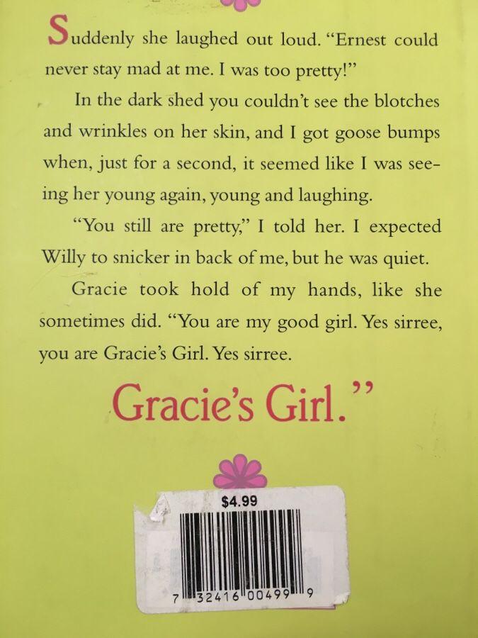 Hard cover book! Novel Gracie's girl