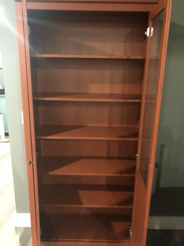 Hemnes Cabinet With Panel Glass Door Red Brown 35 3 8x77 1 2 Ikea For In Lake Worth Fl Offerup