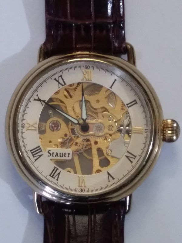 Stauer Mens Skeleton 14636 Watch Leather Band For In Cincinnati Oh Offerup
