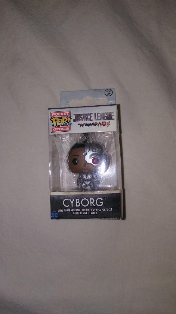 Funko Pocket Pop Keychain Justice League Cyborg