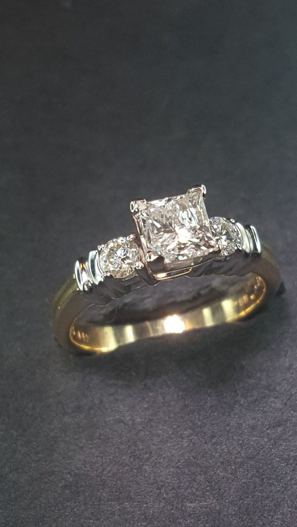 princess cut certified diamond ring for Sale in Augusta a31592bc2