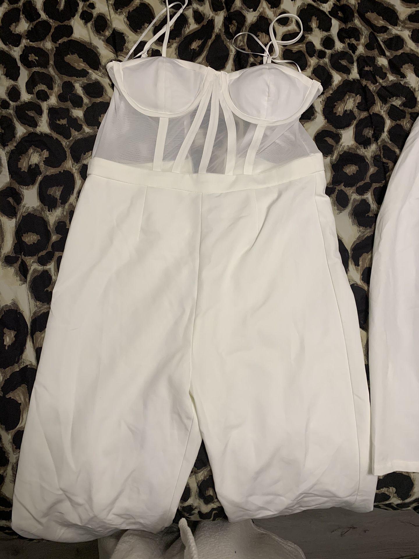 White Jumpsuit w/ Blazer XL