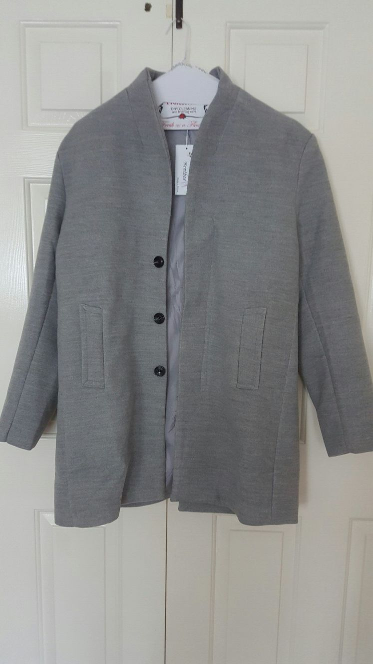 Long trendy jacket black for man
