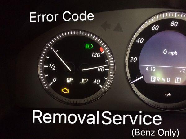 Mercedes Benz Error Code Removal Service and Régulo