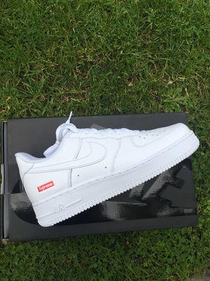 Photo Supreme X Nike Air Force White 8.5