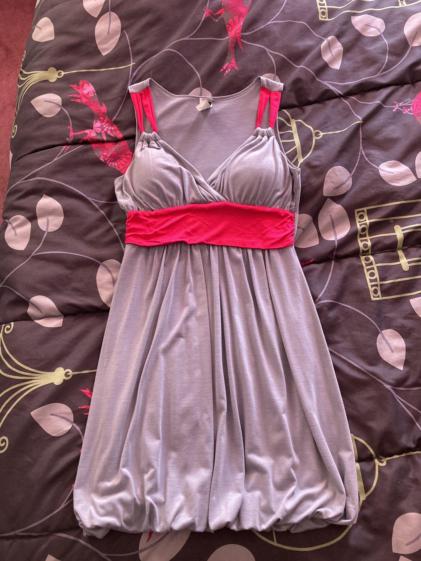 Gray/Pink Summer Dress