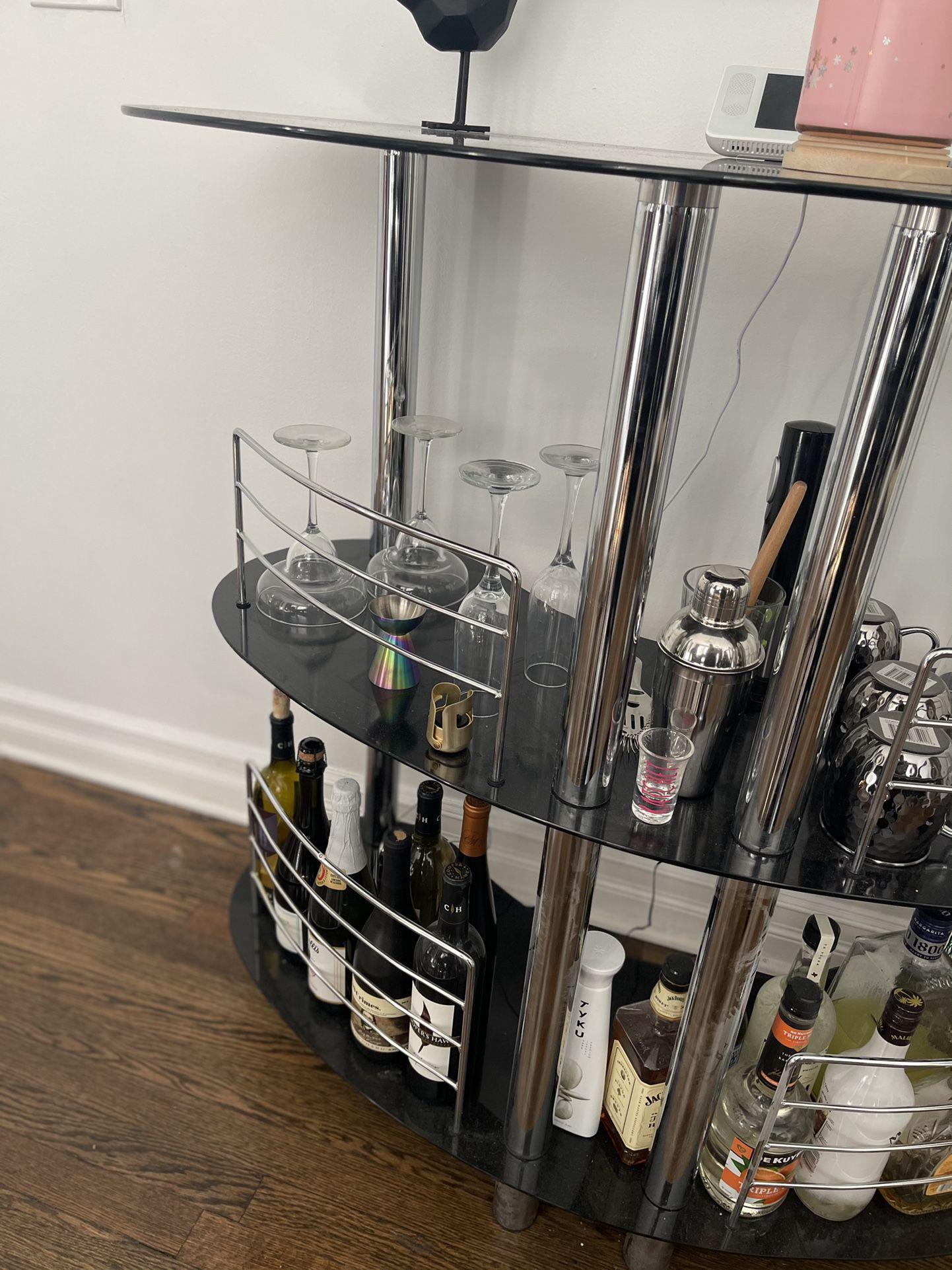 Luxury full sized bar.