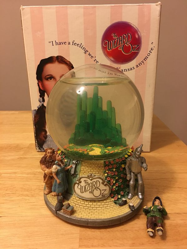 Wizard of Oz snow globe with wind up song for Sale in Darien, IL ...