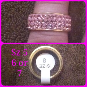 Pink crystal & stainless steel band. Available in size 5,6 & 7 for Sale in Glen Burnie, MD