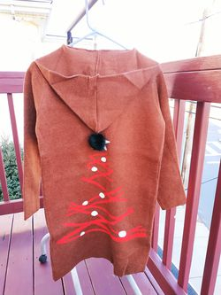 Brand new sweater coat cardigan overcoat with hat Thumbnail