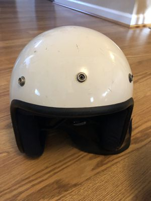 Biltwell Bonanza style Vintage White Open Face Vintage Helmet Adult for Sale in Falls Church, VA