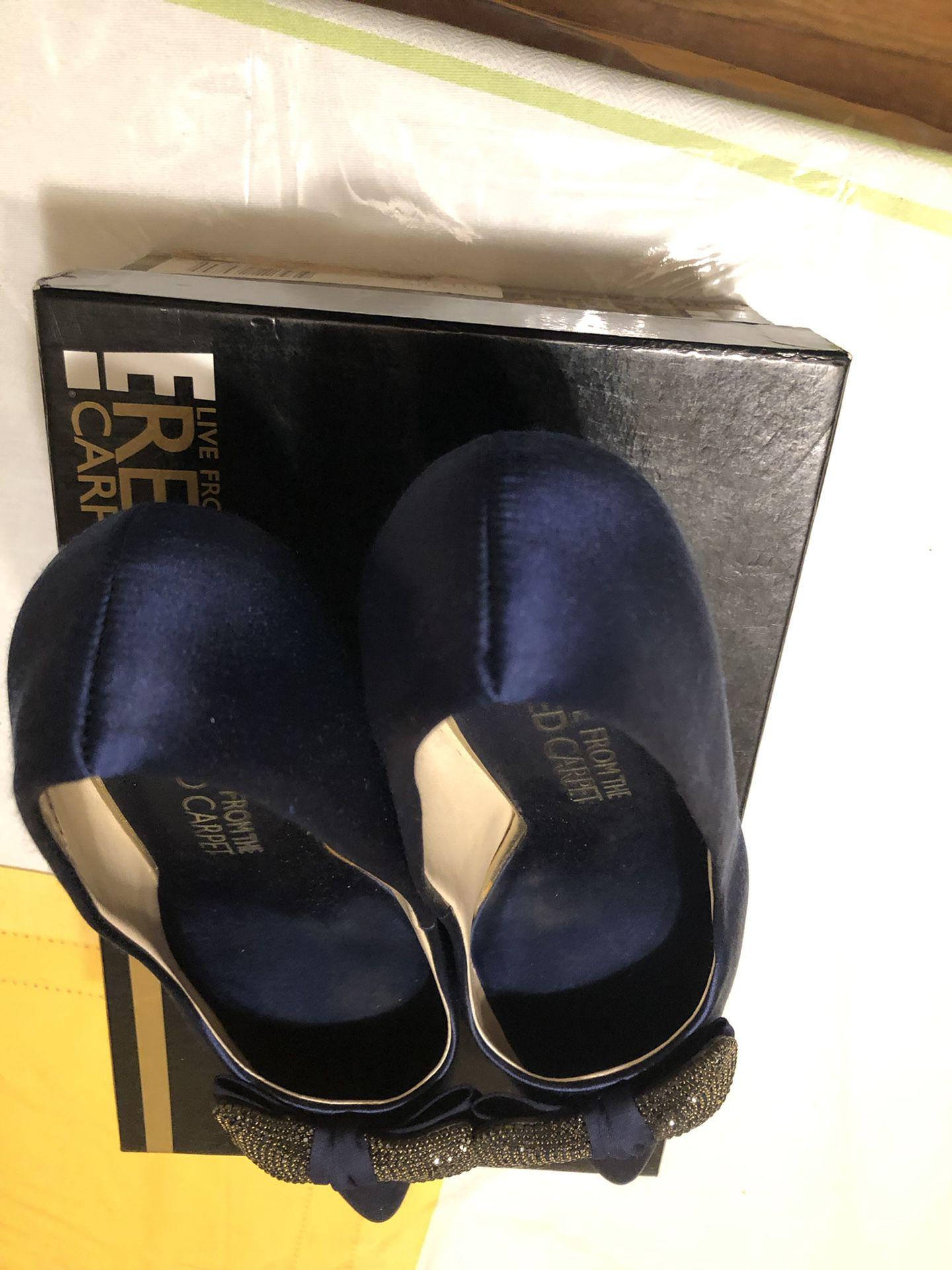 Red Carpet navy blue ladies dress shoes size 10 M