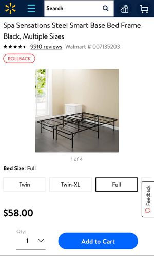 Spa sensations bed frame for Sale in Arlington, VA