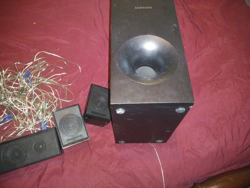 LG 32 in samsung bluray surround sound