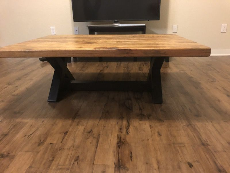 Signature furniture wood coffee table and 2 end tables