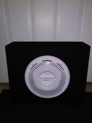 Photo 🌟 Brand New 🌟 10 SONY MARINE Subwoofer in a Carpeted Black Enclosed Speaker Box🌟MAKE AN OFFER🌟