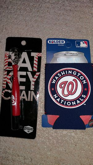 Washington Nationals swag (keychain + can sleeve) for Sale in South Riding, VA