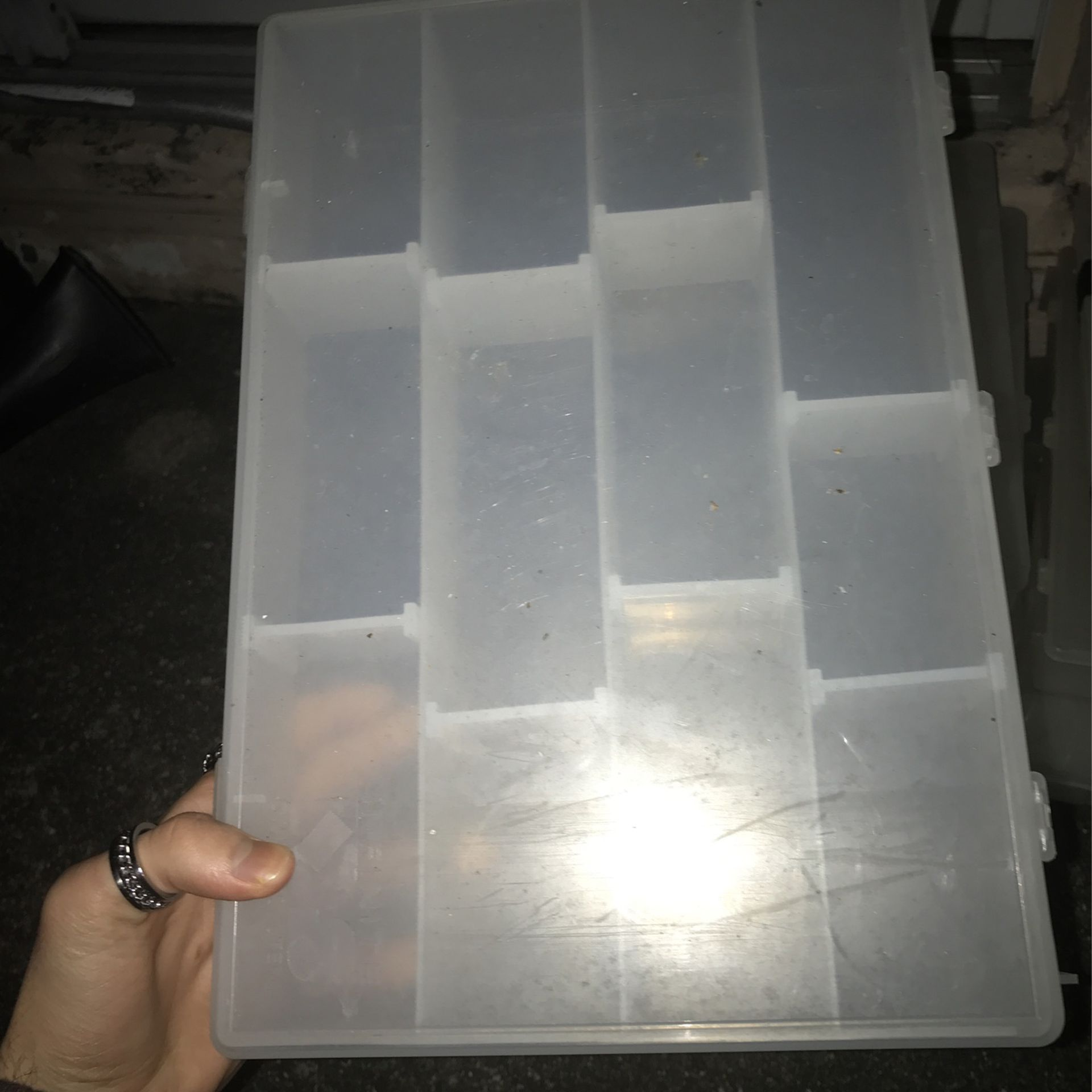 10 CLEAR TACKEL BOXES IN GREAT CONDITION