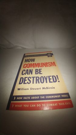 How Communism Can Be Destroyed! by William Steuart McBirnie 1961 GC Thumbnail