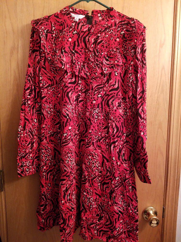 Junior Womens Dress Dresses Size Medium 8 10 & Gray Zip Up Sweater Size Small Never Worn