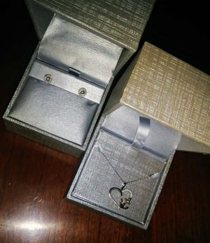 Zales diamond ear rings and diamond anchor necklace for Sale in Inwood, WV