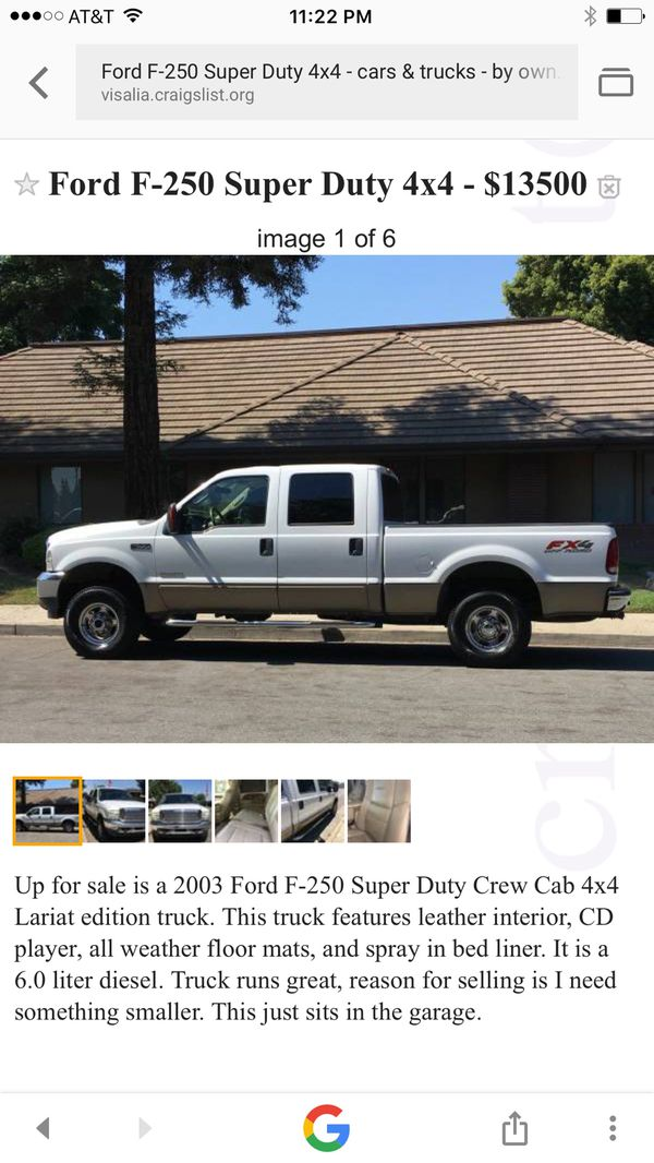 2003 Ford F 250 Lariat For Sale In Visalia Ca Offerup