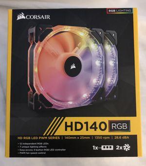 Corsair HD 140 RGB Computer Fans 2-Pack for Sale in Laguna Hills, CA